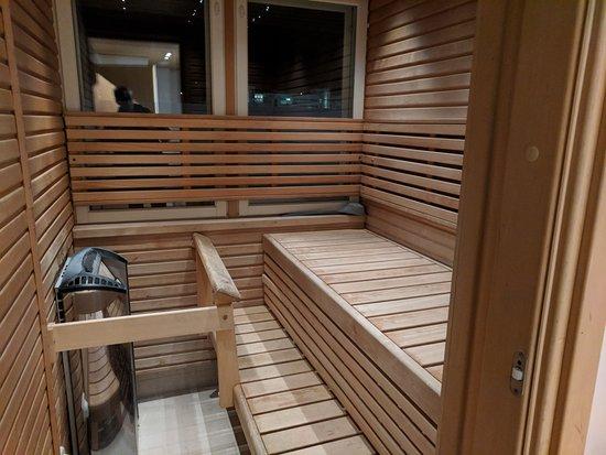 Finlandia Hotel Alba: Private sauna in a suite