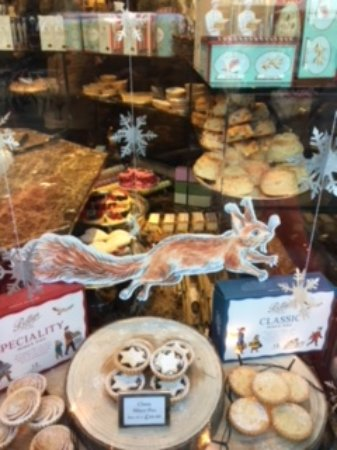 Bettys Cafe Tea Rooms - Stonegate: Some of the beautiful Christmas cakes and pastries - mouth watering