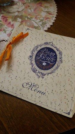 Villa Rosiche: la carta del menu... davvero ricco di scelte
