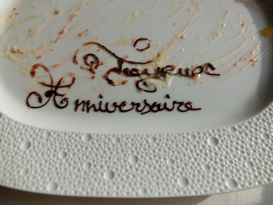 Il Lago at The Four Seasons Hotel: Well, we ate the rest of our anniversary present!