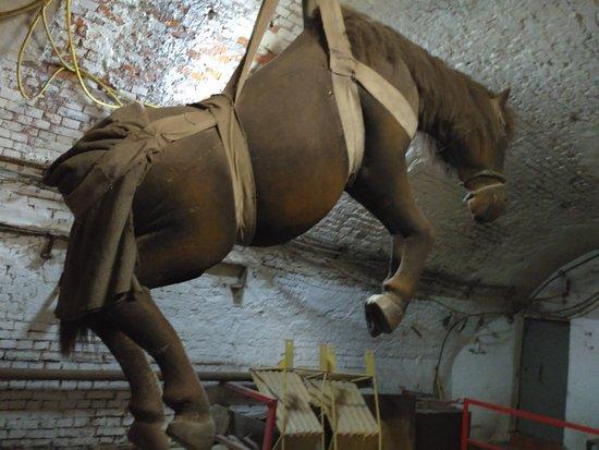 Guido Mine: Так опускали в давние времена лошадей в шахту.