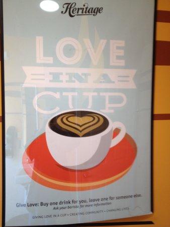 Shasta Lake, CA: Love in a cup