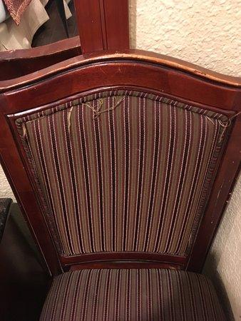 "Super 8 San Francisco/Near the Marina: ""Not-so-new"" chair"