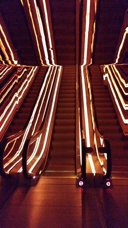Light Tunneled Escalator To A Cozy Lounge Picture Of