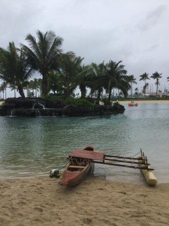 "Hilton Hawaiian Village Waikiki Beach Resort: Moana's boat"" and family of ducklings at the Lagoon."