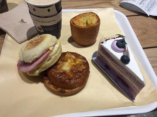 Paris Baguette Myeongdong Gwangjang: Café da manhã