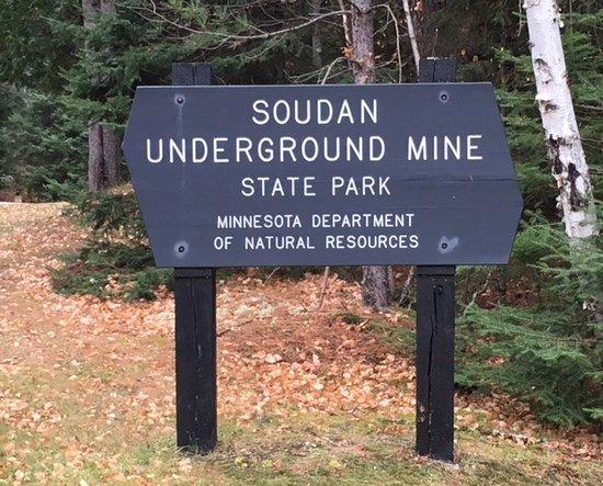 Soudan Underground Mine: Entrance sign