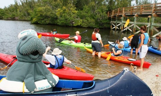 Fort Pierce, FL: Guided kayak trips available with the Manatee Center Education Coordinator