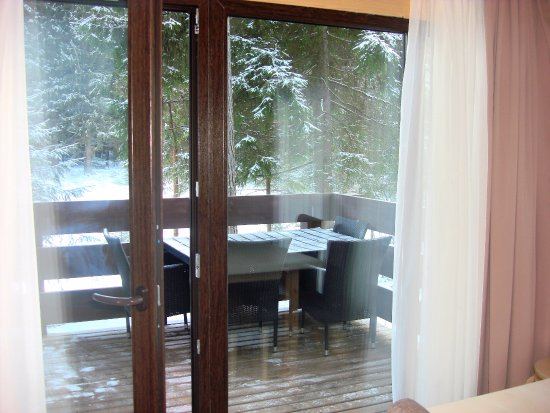Okhta Park Ski Complex: балкон