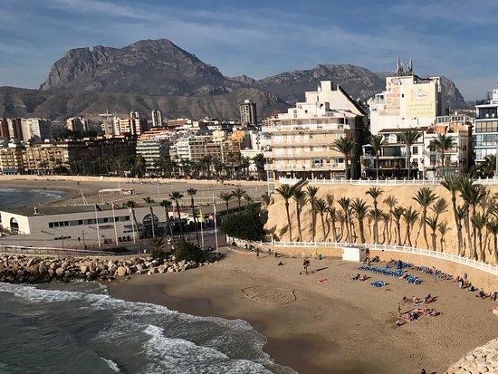 Placa del Castell: Looking down on Playa de Mal Pas
