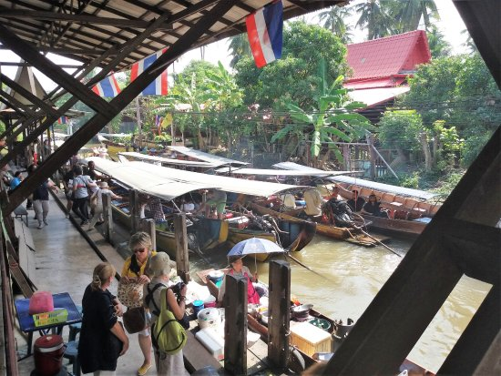 Damnoen Saduak Floating Market: Pormenor do canal