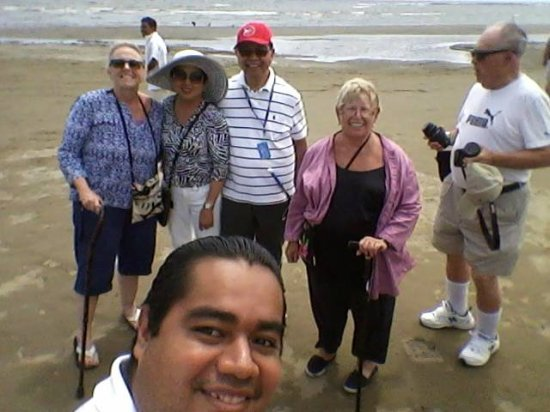 TSO Travel & Tour: On the beach the VIRGIN with tourists of the cruise Island Princess