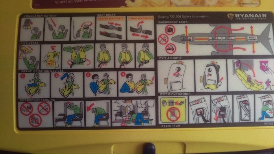 Ryanair: Safety instructions