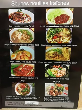 Noodle Bar: MENU