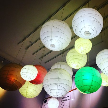 The Sea Street Sushi Bar: Colorful lights brighten up the otherwise drab room