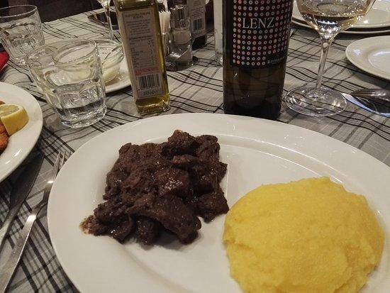Hotel Olimpic: Polenta e Cervo preparato da Ulisse