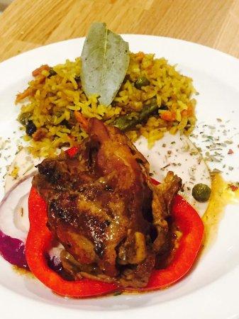 Renee's Kitchen: jerk chicken & curried fried rice