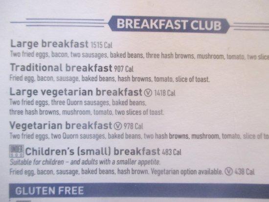 The Ledger Building: Wetherspoon's Breakfast Menu