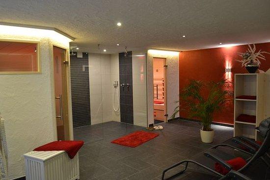 Hotel Forsthaus: kleine feine finnische Sauna und Infrarotkabine