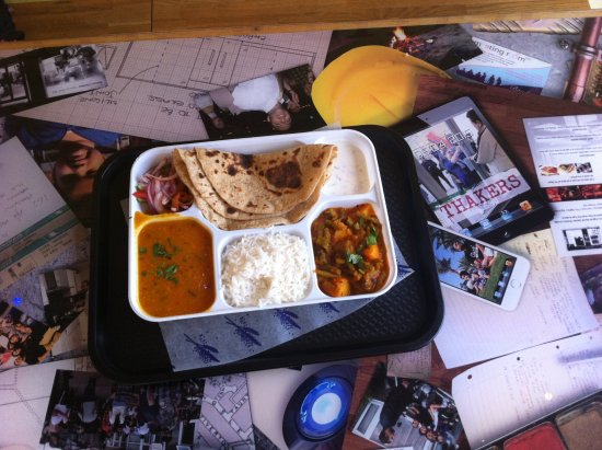 Thakers: Mmmmmm Daily Thali for my birthday lunch. So Happy!