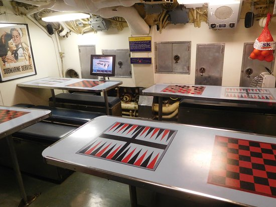 USS Requin: Room to Eat and Play