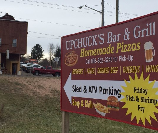 UP CHUCK'S Bar & Grill: Just off Trail 107 & Trail 3