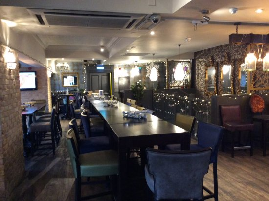 Slug & Lettuce: Upstairs group,seating