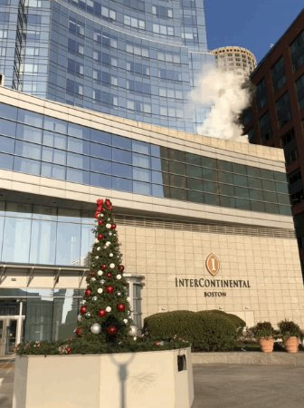 InterContinental Boston: View from one of the entrances..