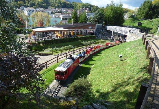Swiss Vapeur Parc: Train running through beautiful grounds