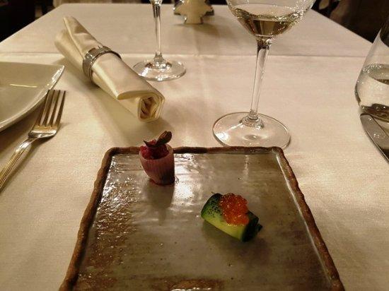 Salon Fine Dining Restaurant: Amuse bouche a Salon Étteremben.