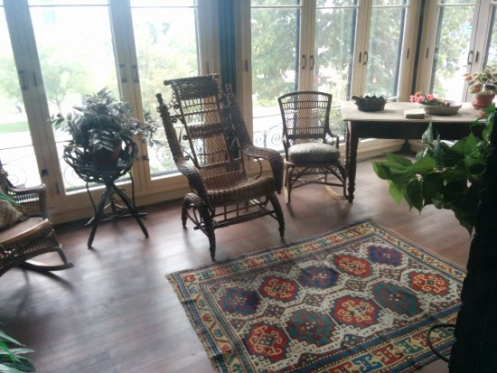 Byers Evans House: Living Room With Beautiful Landscape
