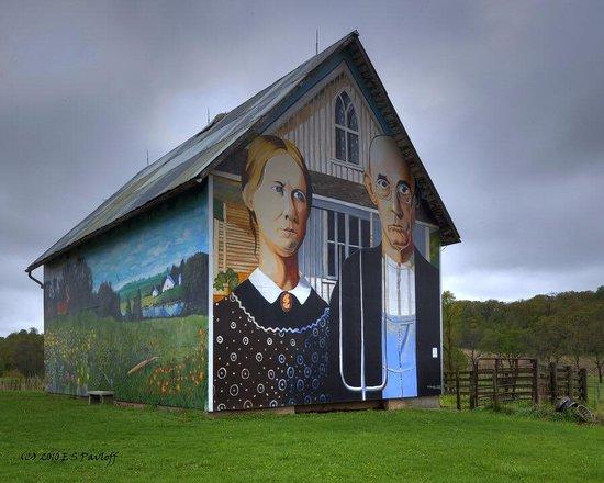 Roadside American Gothic Barn