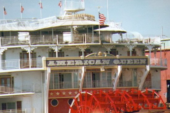 New Orleans, LA: Steamboat on The Mississippi . . .
