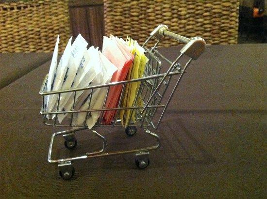 Thai House: Sugar grocery cart.