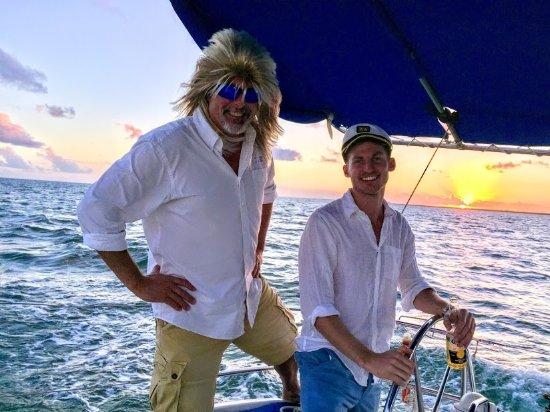 Sailing Adventures Miami: Your Captain having fun