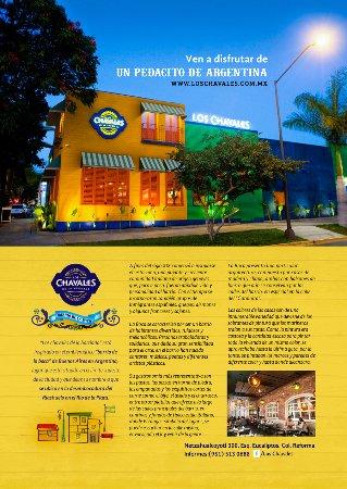 Los Chavales Grill Argentino y Mas: porque los colores de la fachada