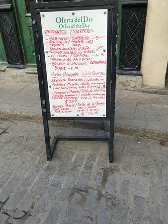 La Imprenta: Street menu