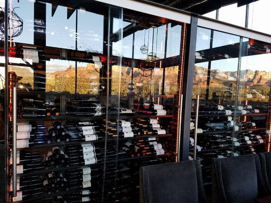 Mariposa Latin Inspired Grill: Wall of Wine ~ more than I could drink in two years, while really trying