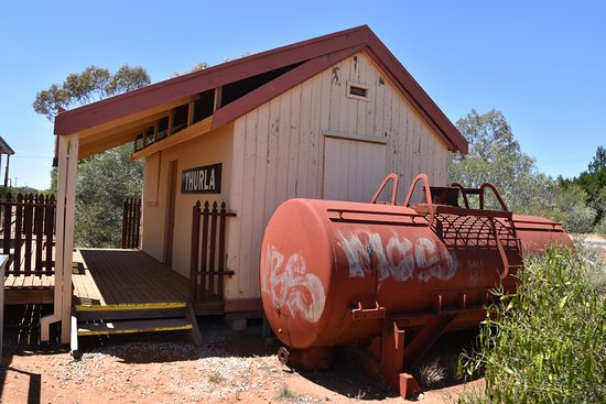 Red Cliffs Historical Steam Railway: Station buildings at the end of the line