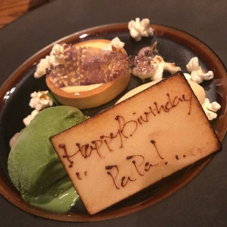 My fathers birthday cake Picture of NOBU InterContinental Hong