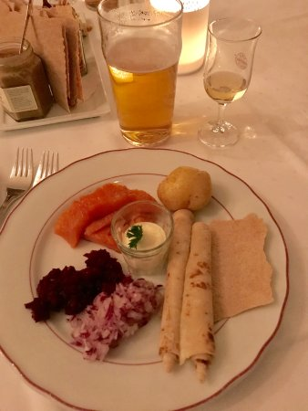 Engebret Cafe: Rakfisk as a starter