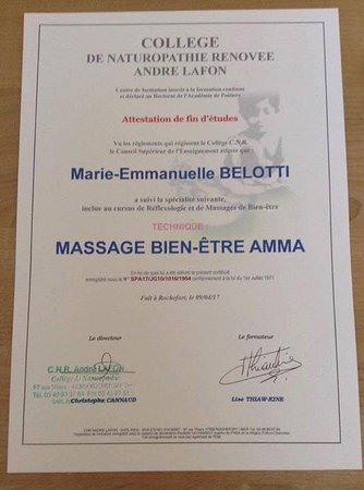 Cote bien-etre: CERTIFICATION SPECIFIQUE AMMA ASSIS