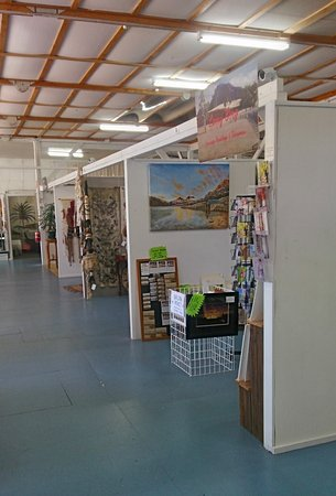 Deloraine, Australia: Artists have individual studio spaces to display their work.