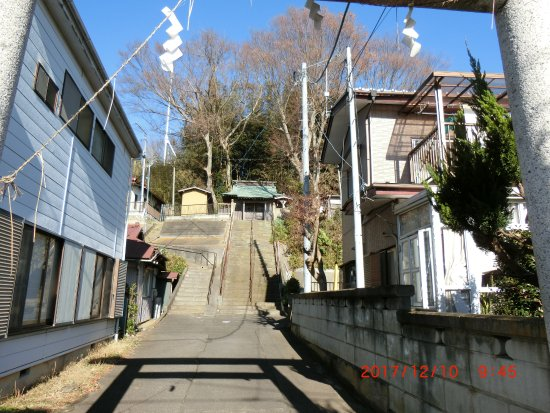 Oarai-machi, Japan: 住宅街に溶け込んでいます
