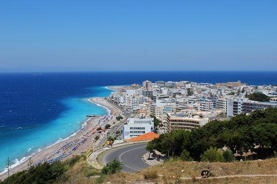 The Acropolis of Rhodes: vue sur rhodes