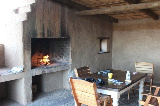 Tankwa Karoo National Park, แอฟริกาใต้: Outdoor eating area