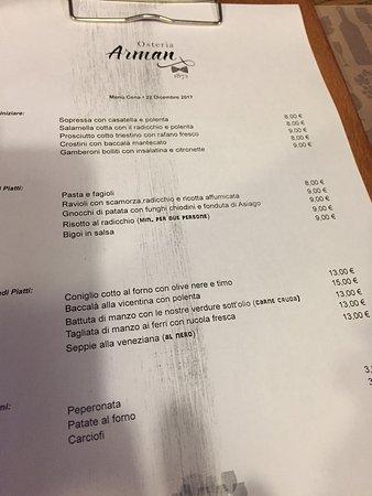 Osteria arman 136 tripadvisor for Arman bengal cuisine dinas menu