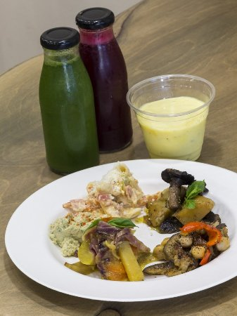The Saints Stores: Enjoy delicious warm and cold dishes, smoothies, cold-pressed juice and desserts.