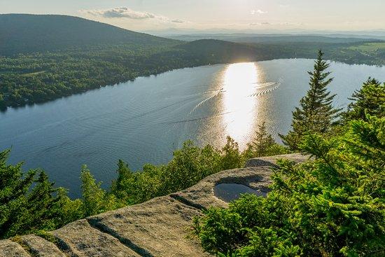 Mount Pinacle: Coucher de soleil sur le lac Lyster