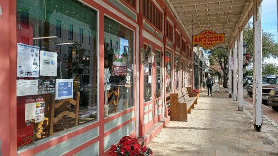 Sunrise Antique Mall on Water Street close to the river in downtown Kerrville. Lots of parking n
